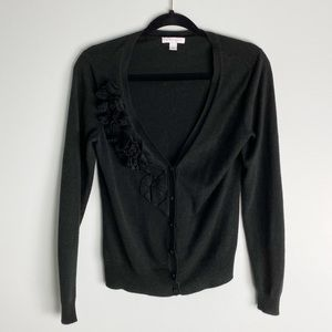 New York & Company V-Neck Button Down Cardigan